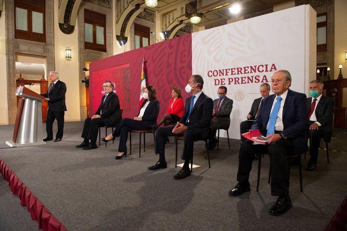 El presidente de México, Andrés Manuel López Obrador se dirige a la población en el marco del ...
