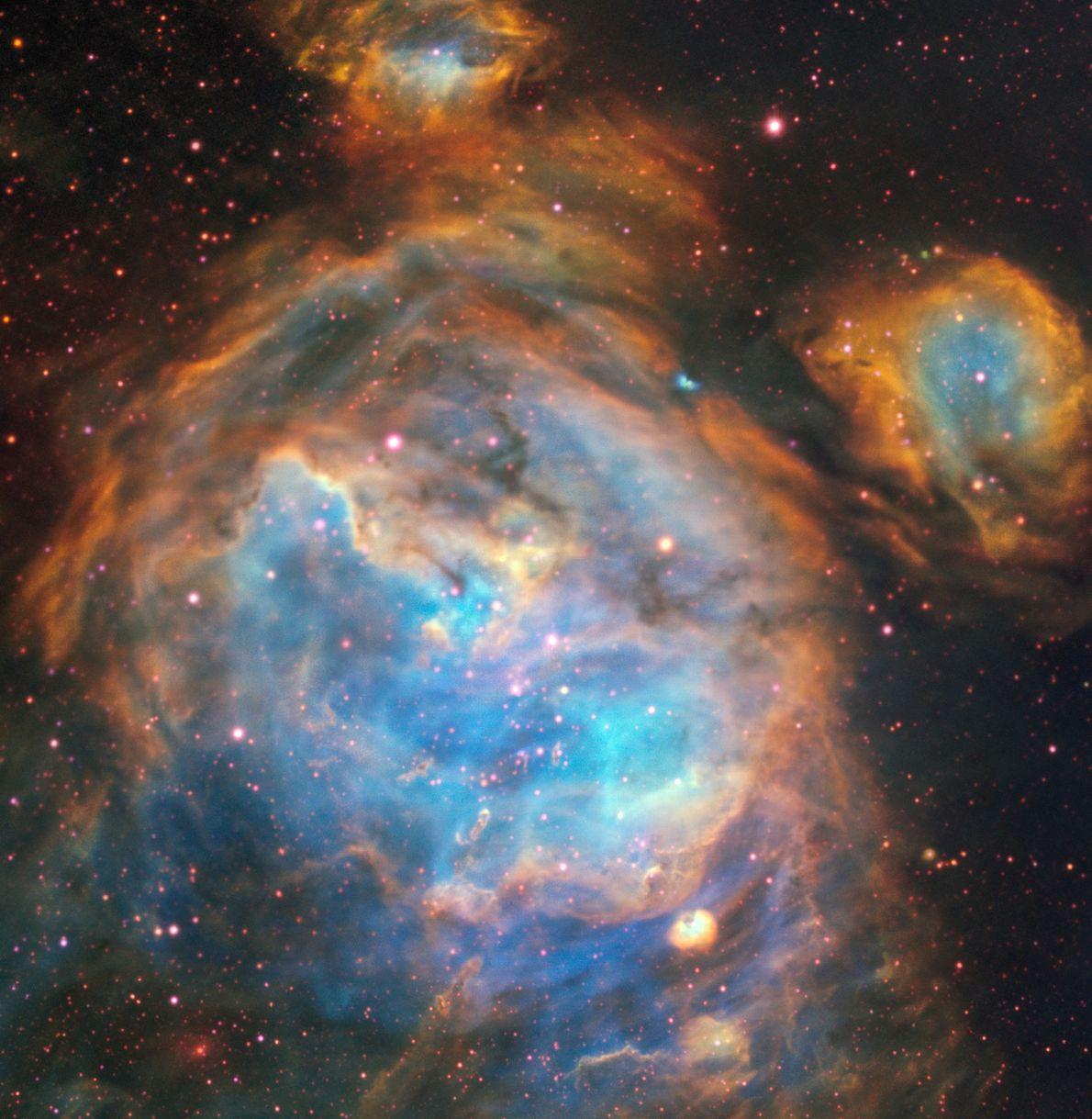 El Very Large Telescope de ESO capturó esta deslumbrante región de estrellas recién formadas en la ...