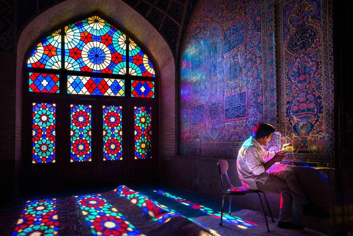 Dentro de la Mezquita Rosa