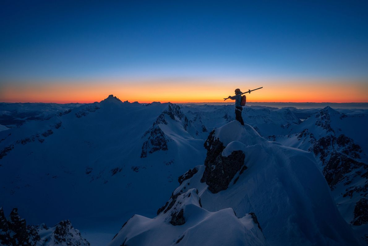 Esquiando en Sunnmøre