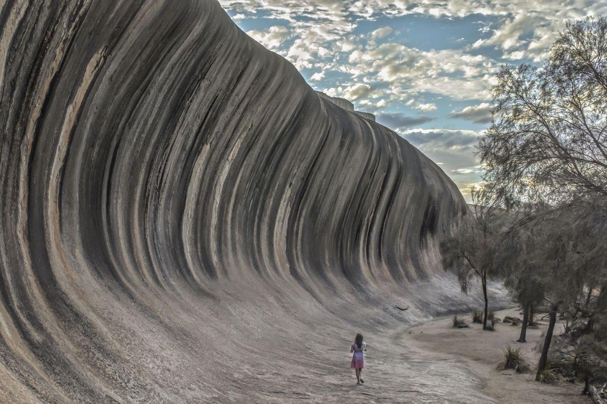 Roca en forma de ola