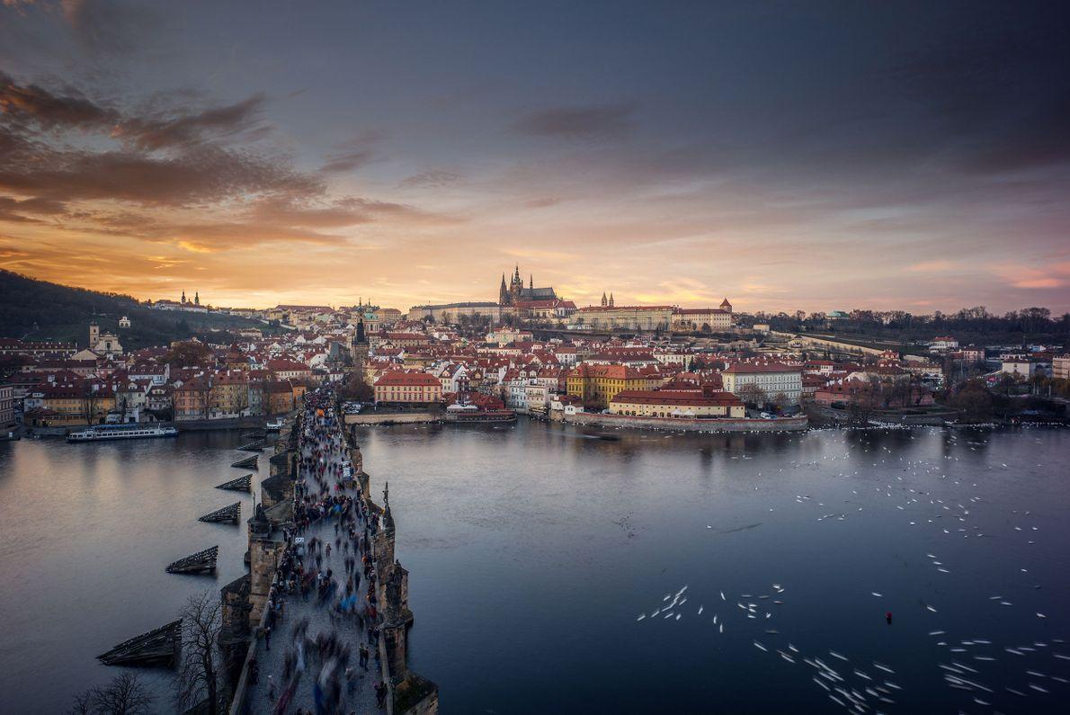 Atardecer en República Checa