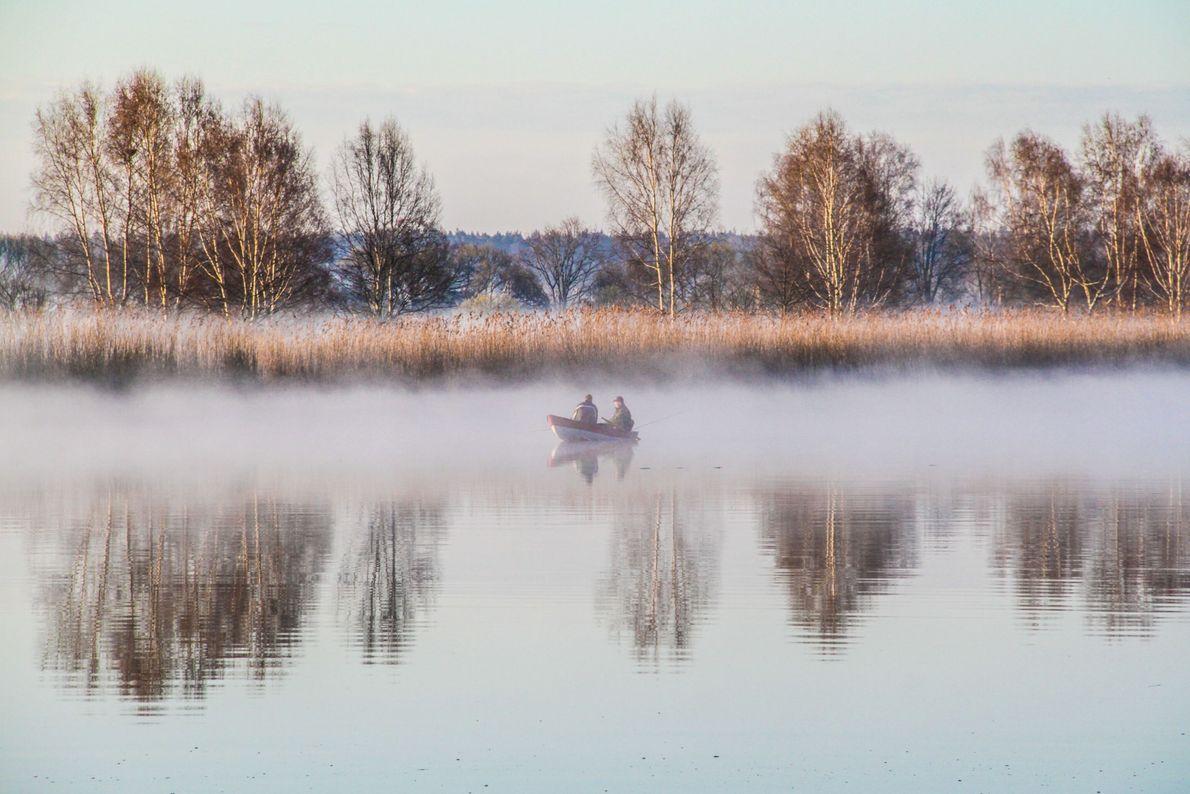 Fisherman in Latvia