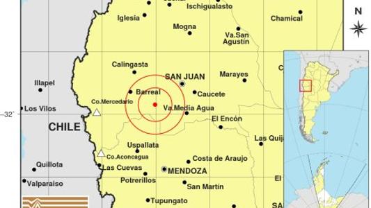 Argentina: sismo de 6,4 grados en la escala Richter sacude a San Juan
