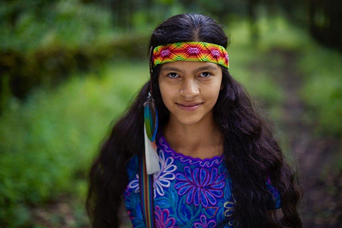 """Ayakcihuatl, Chamana Nahuatl de 13 años """"Nosotros los niños no somos el futuro. Estamos aquí y ..."""