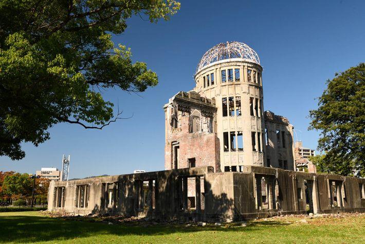 La Cúpula de Genbaku (Genbaku Dōmu), declarado Patrimonio de la Humanidad por la UNESCO, en el ...