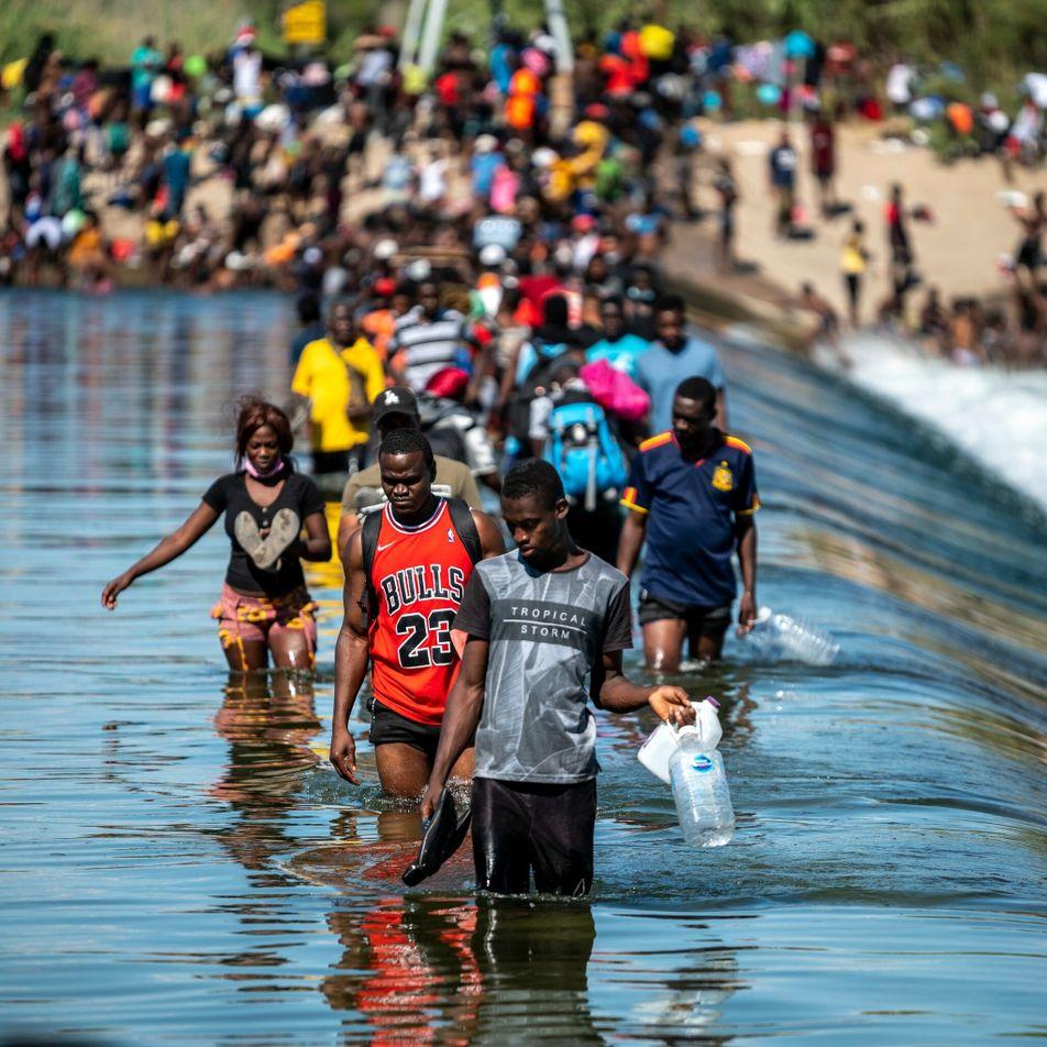 La situación de los migrantes haitianos en la frontera entre México y Estados Unidos