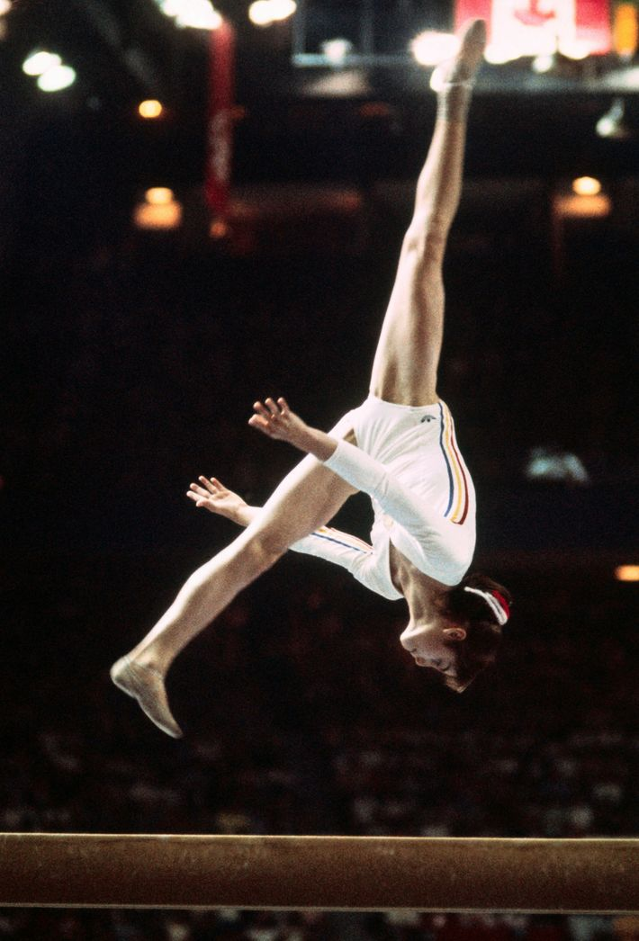 Nadia Comaneci in Olympic Action