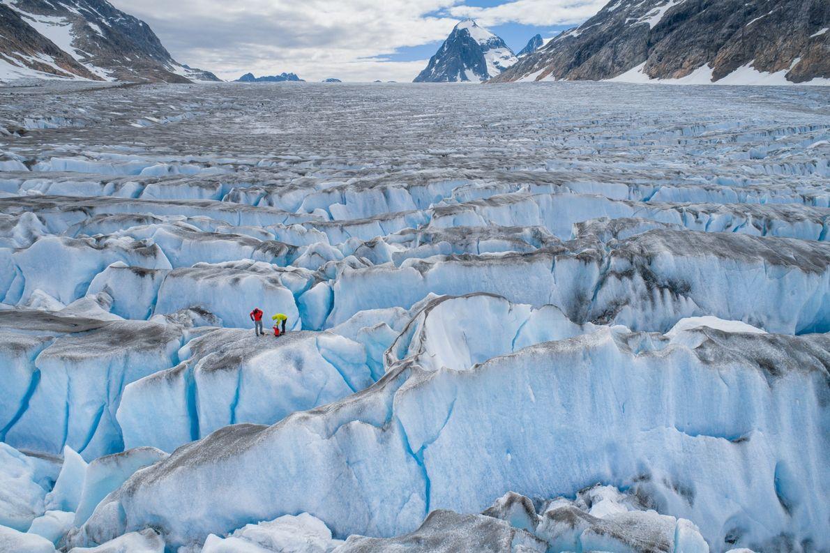Gran capa de hielo de Groenlandia.