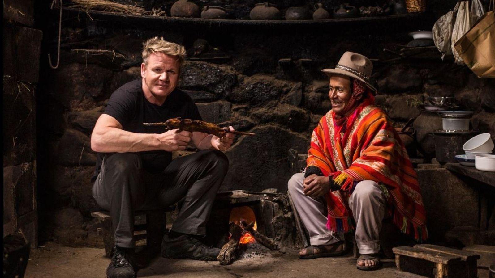 Gordon Ramsay en su segunda temporada de Sabores Extremos.