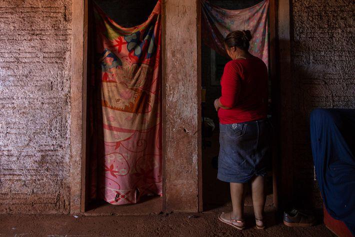 Florencia Reginaldo, que vive en la Reserva Indígena Dourados, estaba cuidando a los hijos de su ...