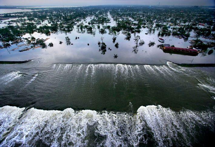 Cuando el huracán Katrina azotó Nueva Orleans en el 2005, el agua se derramó sobre los ...