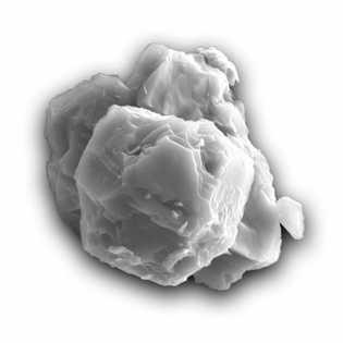 Esta imagen de microscopio electrónico de barrido muestra uno de los granos fechados en este estudio. ...