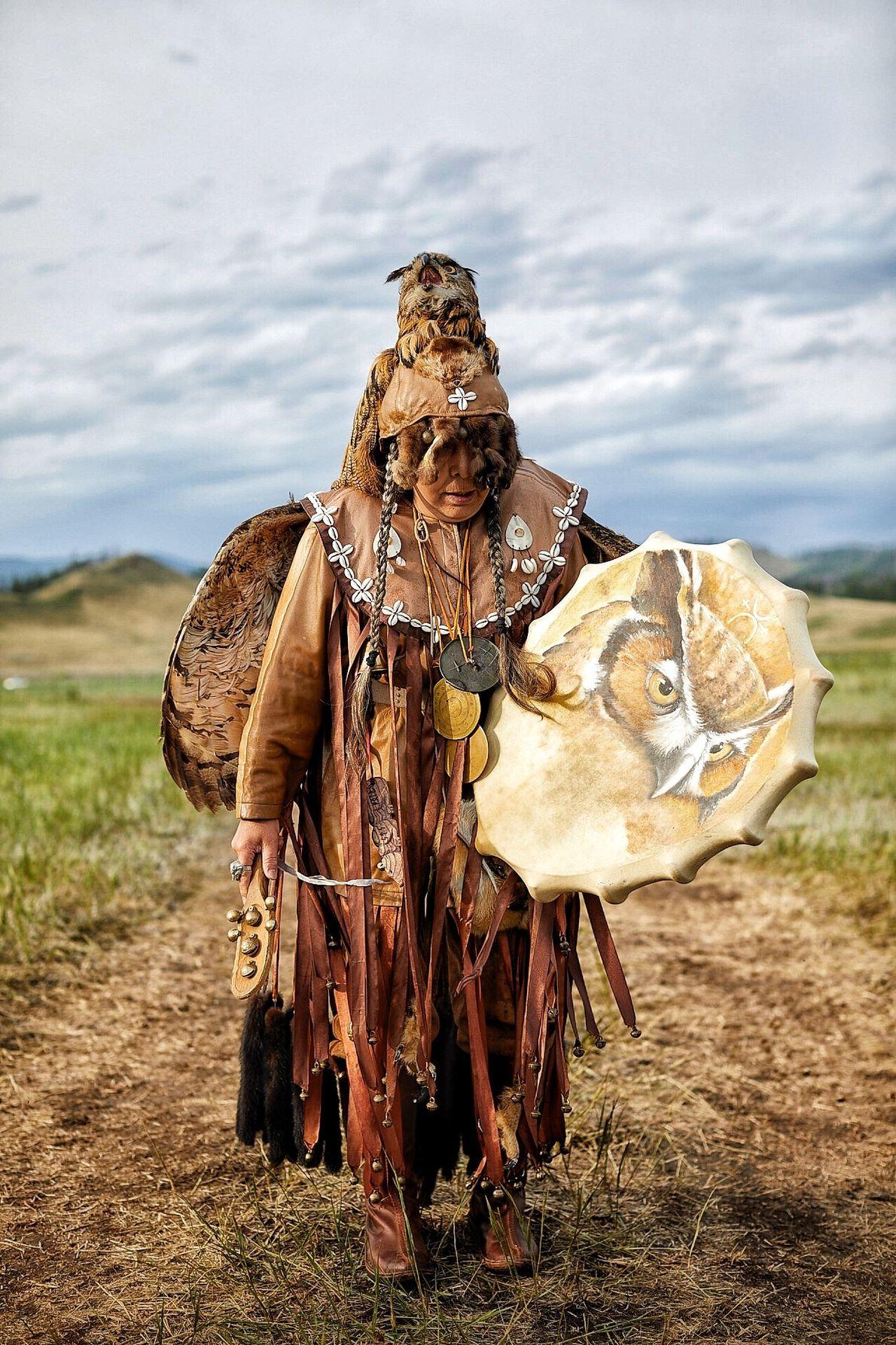Altana chamana de Abakan, Tuvá. Presente en el encuentro de los 13 chamanes.