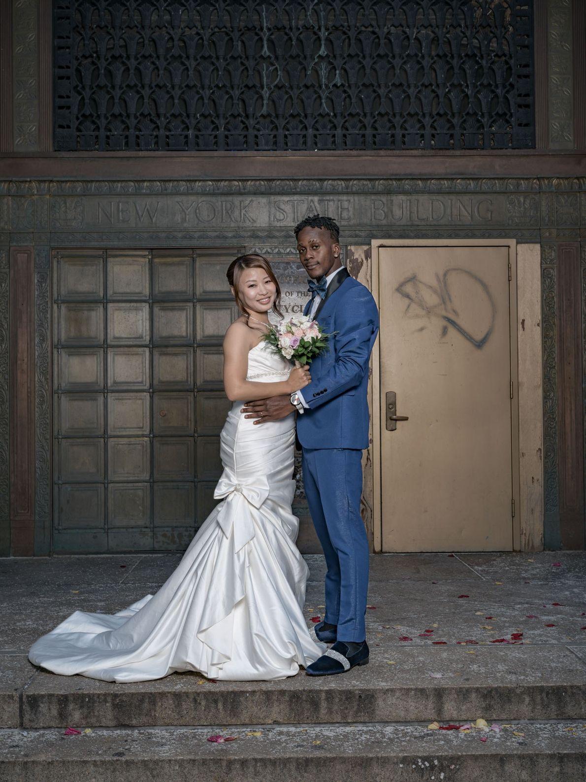 Naoko Okada, nacida en Tokio, conoció a Soyinka Mitchell en su natal Kingston, Jamaica, en 2015, ...