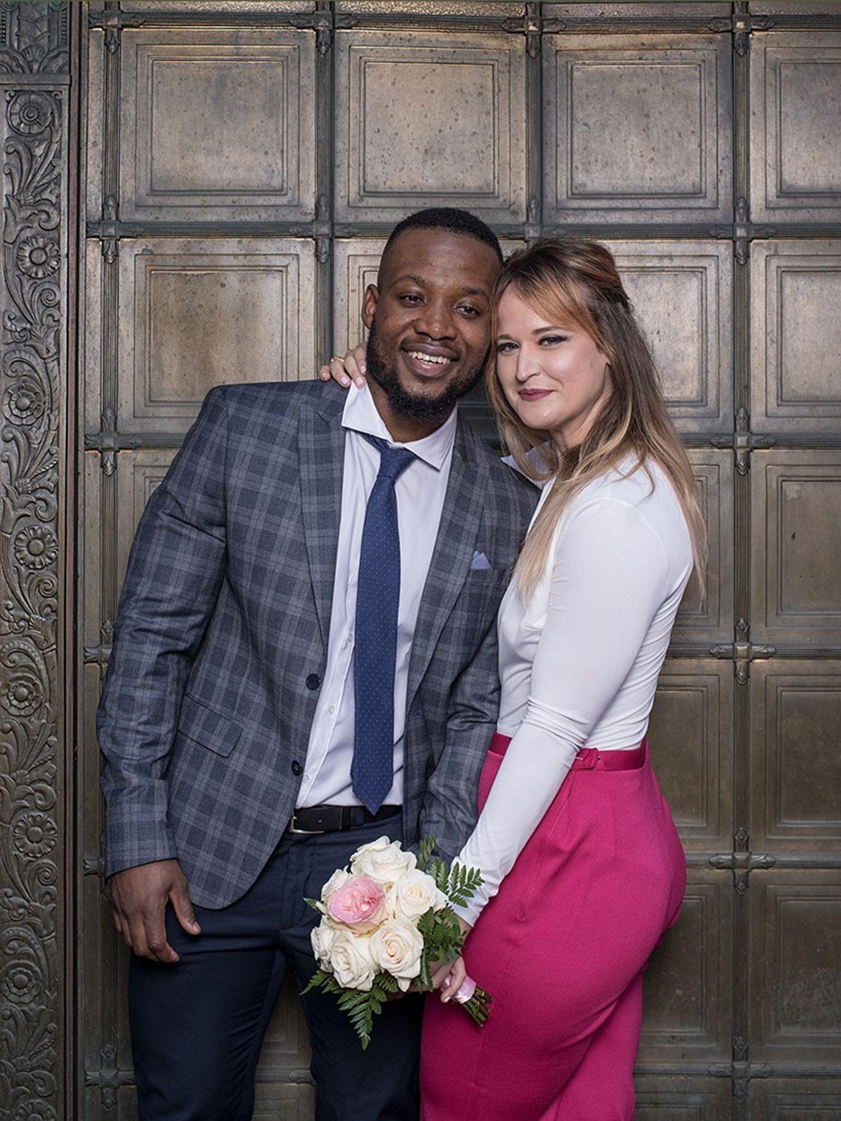 Joseph Alexandre, de Haití, y Shannon Allen, de Ohio, se conocieron en 2015. A pesar de ...