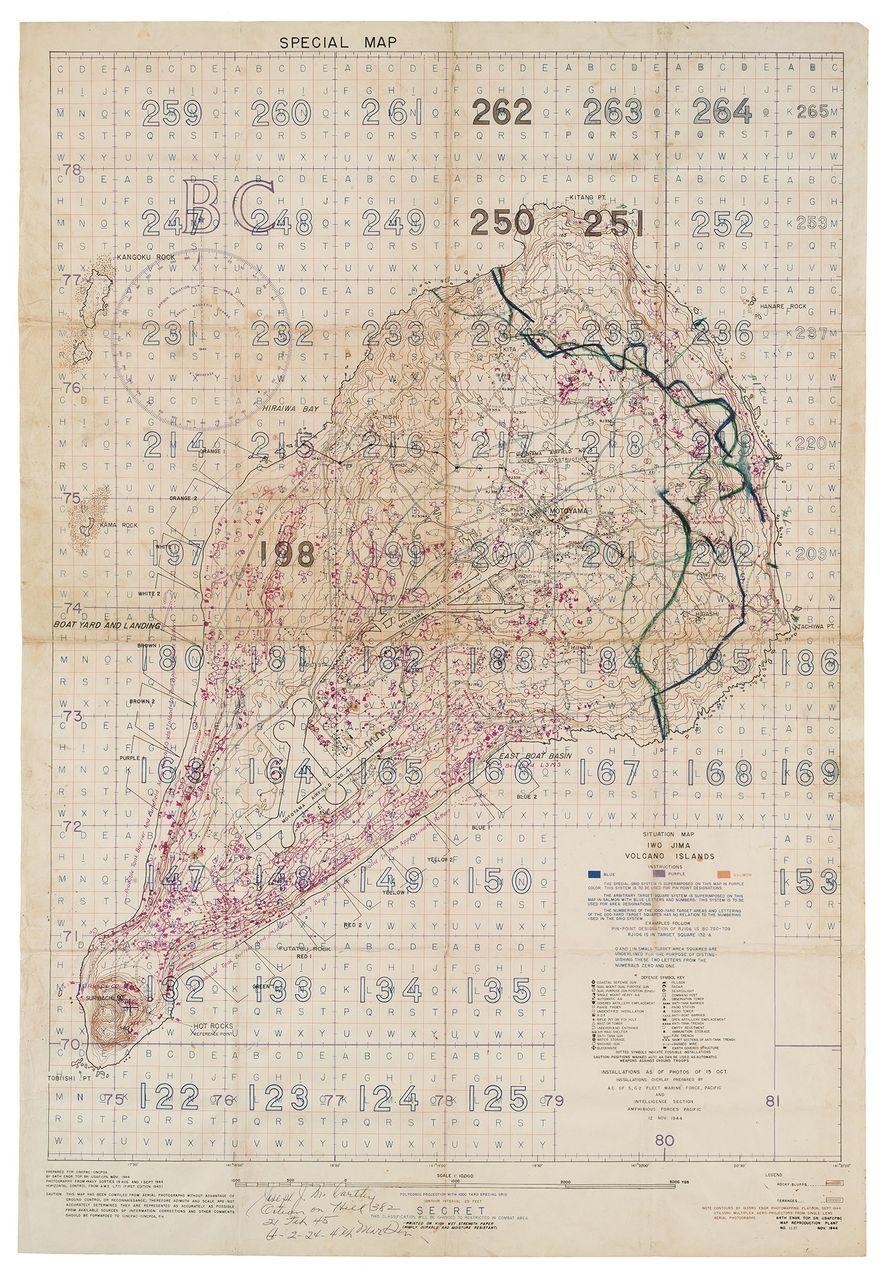 """Un """"Mapa especial de objetivos aéreos y de artillería"""" compilado a partir de fotos de reconocimiento ..."""