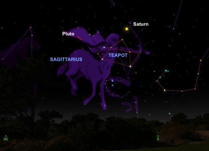 Plutón estará en su mejor momento del año el 12 de julio y será visible con ...