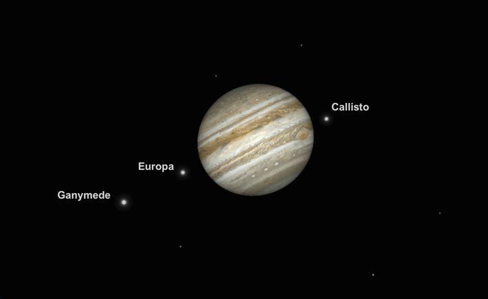 Júpiter se encontró en su máximo esplendor y brillo el 10 de junio.