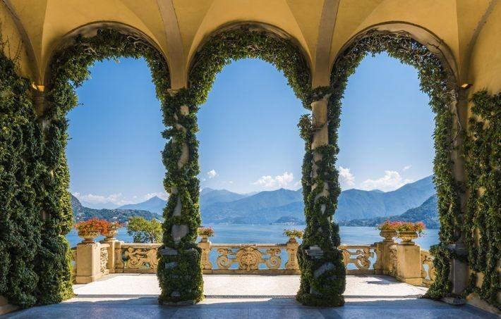 La Villa del Balbianello a orillas del lago Como, Lombardía. La villa, que antes era el ...