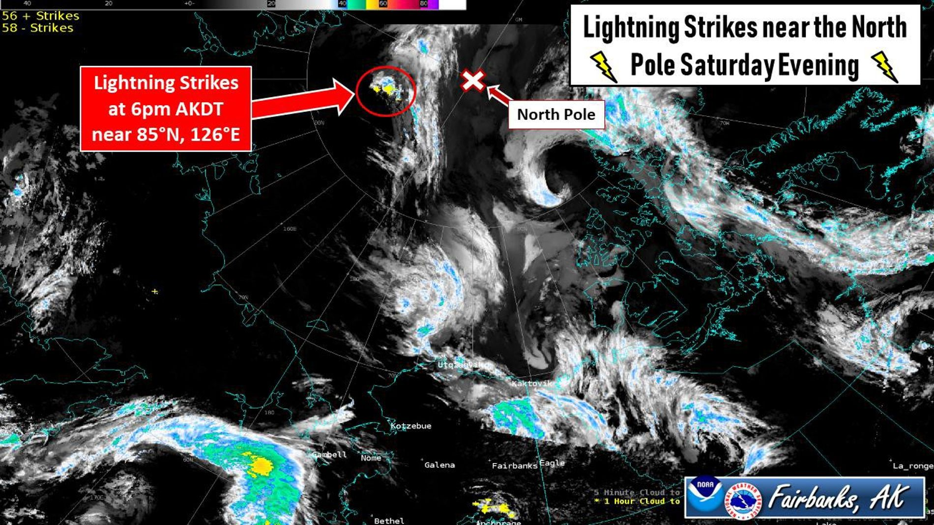 La tarde del sábado 10 de agosto se documentaron una serie de impactos de rayos a ...