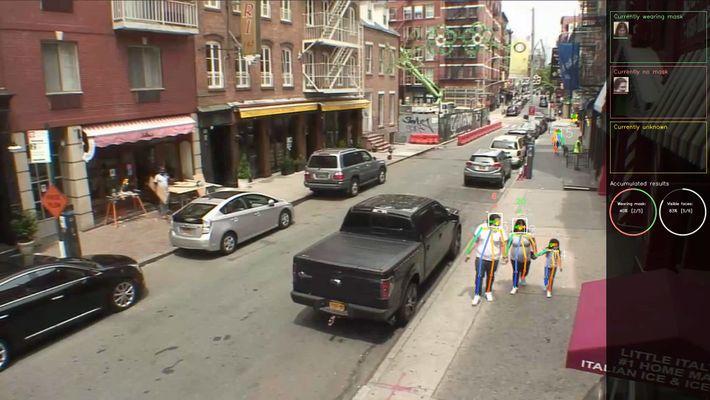 Examinar las imágenes CCTV con reconocimiento de mascarilla podría dar una idea de cuántas personas están ...