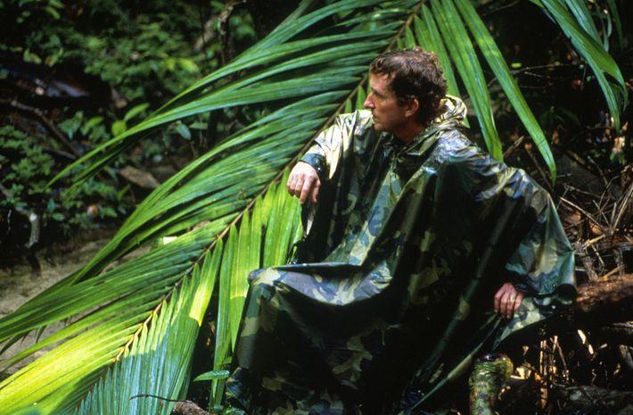 El autor Thomas Lovejoy en la selva amazónica de Brasil en 1989.