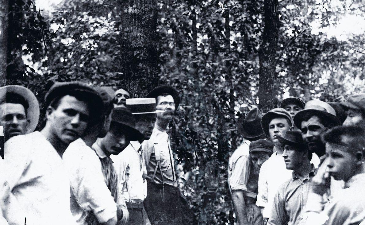 Linchamiento de Leo Frank, Atlanta, GA., 1915.