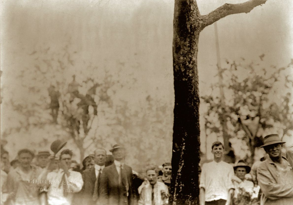 """Linchamiento de Jesse Washington, Wako, TX., 1916.  Las fotos, al no mostrar a las víctimas, """"nos ayudaron ..."""
