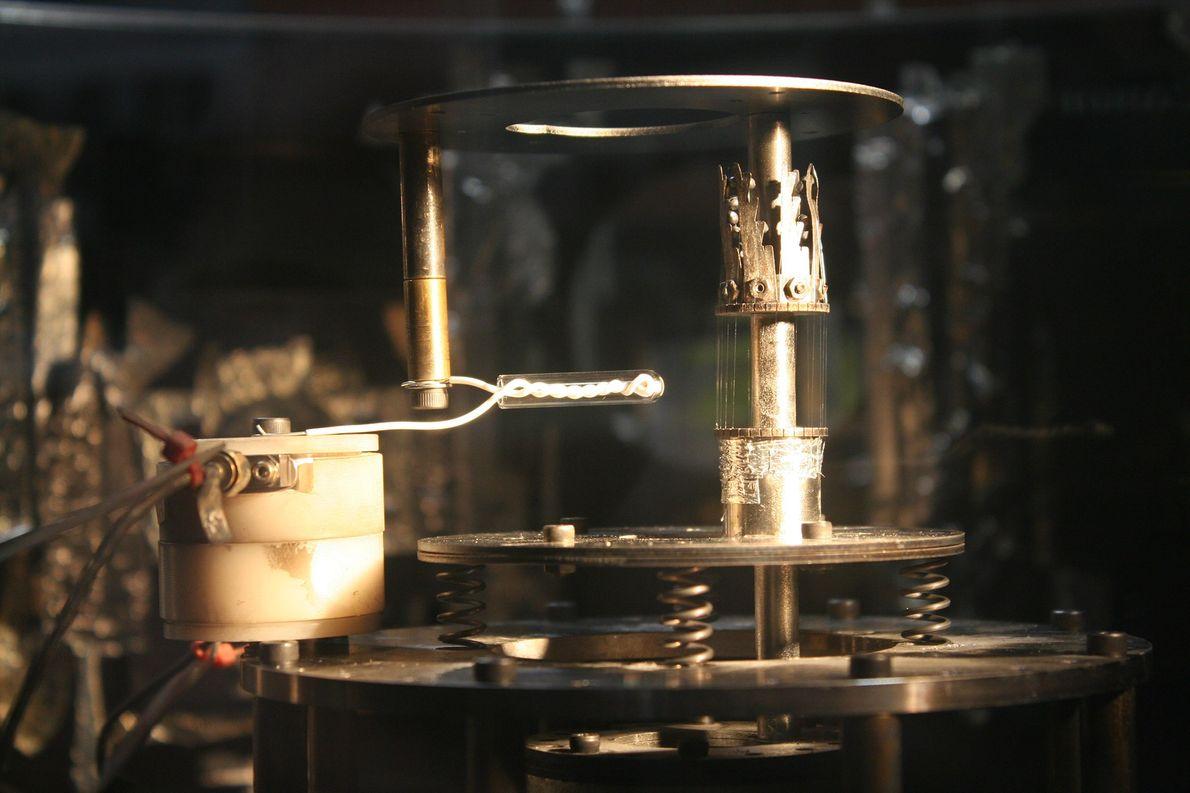 La configuración experimental para MAGPIE, vista mientras la máquina no está en uso.
