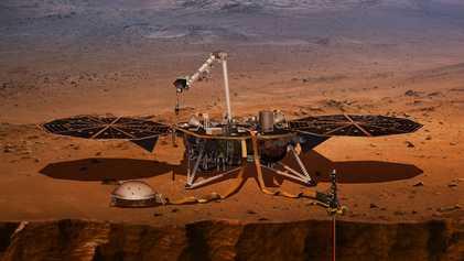 """Primer """"martemoto"""" detectado por la NASA"""