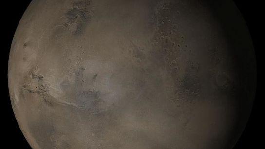 Una imagen de Marte tomada por el Mars Global Surveyor de la NASA en abril del ...