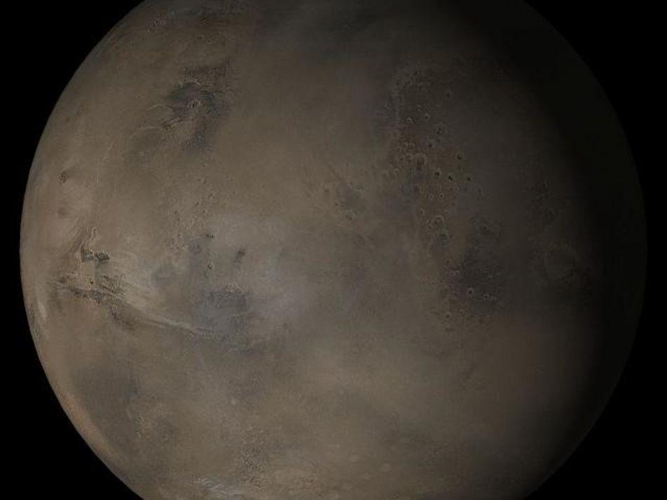 Marte podría estar escondiendo lagos debajo de sus glaciares
