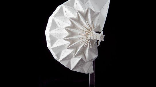 La mascarilla Airgami de Air99 LLC es una estructura de pliegues muy elaborada. El patrón de plegado le ...