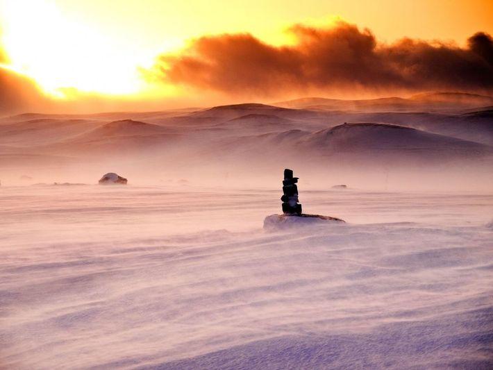La meseta de Hardangervidda, en Noruega, fue la ubicación empleada para simular el planeta helado de ...