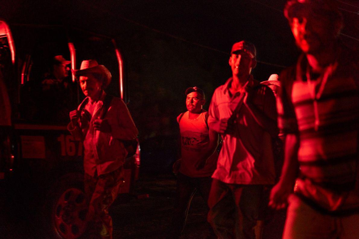 La caravana de migrantes hondureños viajó desde el 3 hasta el 29 de octubre desde San ...