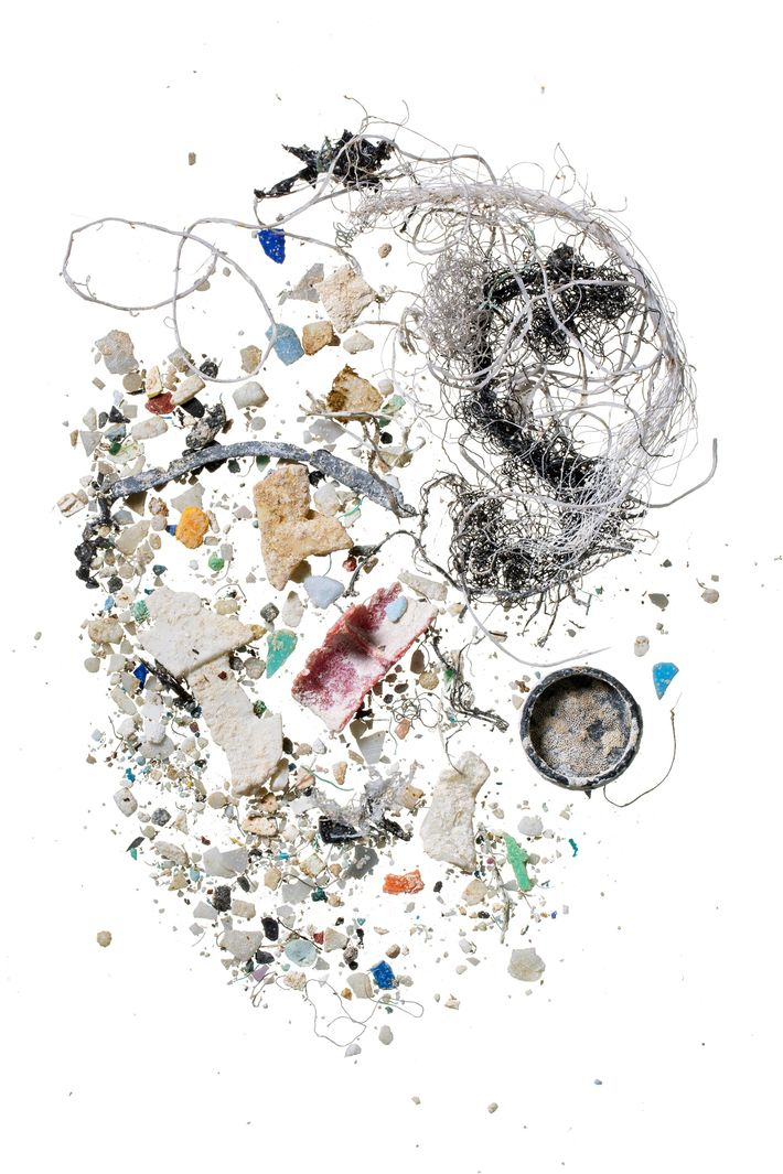 Una muestra recogida en Hawái contiene partículas de plástico.