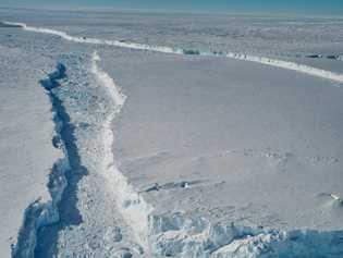 Básicamente, el B-46 es una larga porción del frente de la plataforma de hielo del Pine ...
