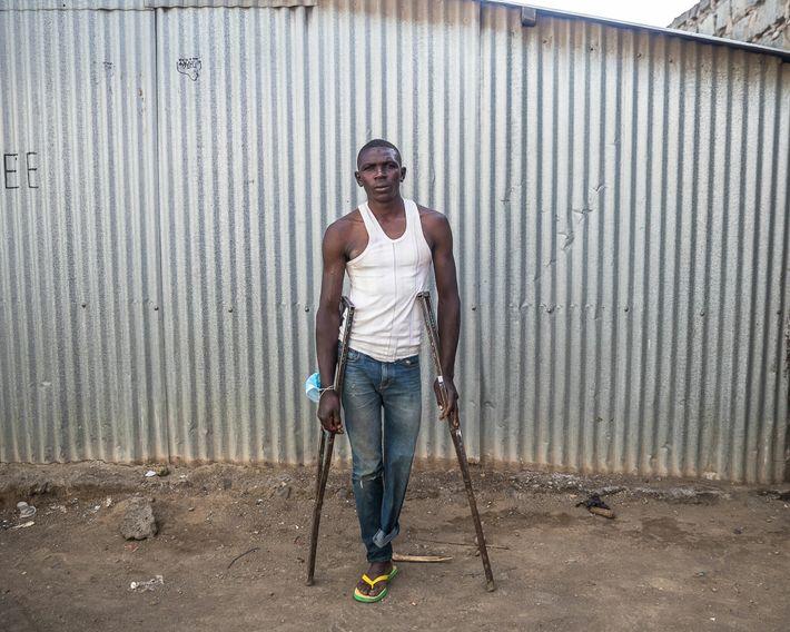 Job Wainana, de 25 años de edad, trabajó de pescador en Kasarani, en el norte del ...