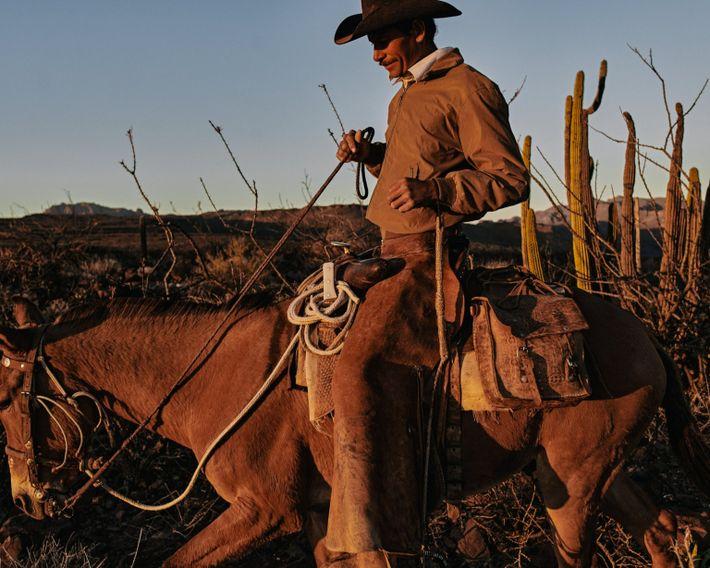 """Eleonary Arce Aguilar """"Nary"""" conduce sus mulas a casa en el Rancho Mesa San Esteban en ..."""