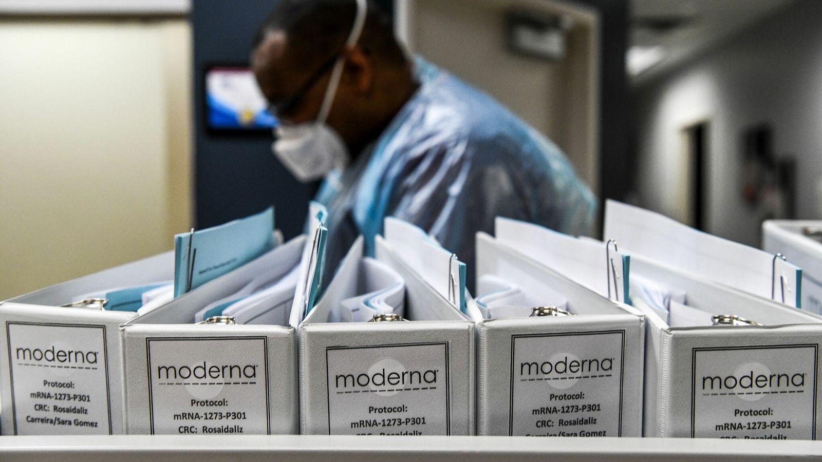 Los archivos de protocolo de la empresa de biotecnología Moderna para las vacunas contra el COVID-19 ...