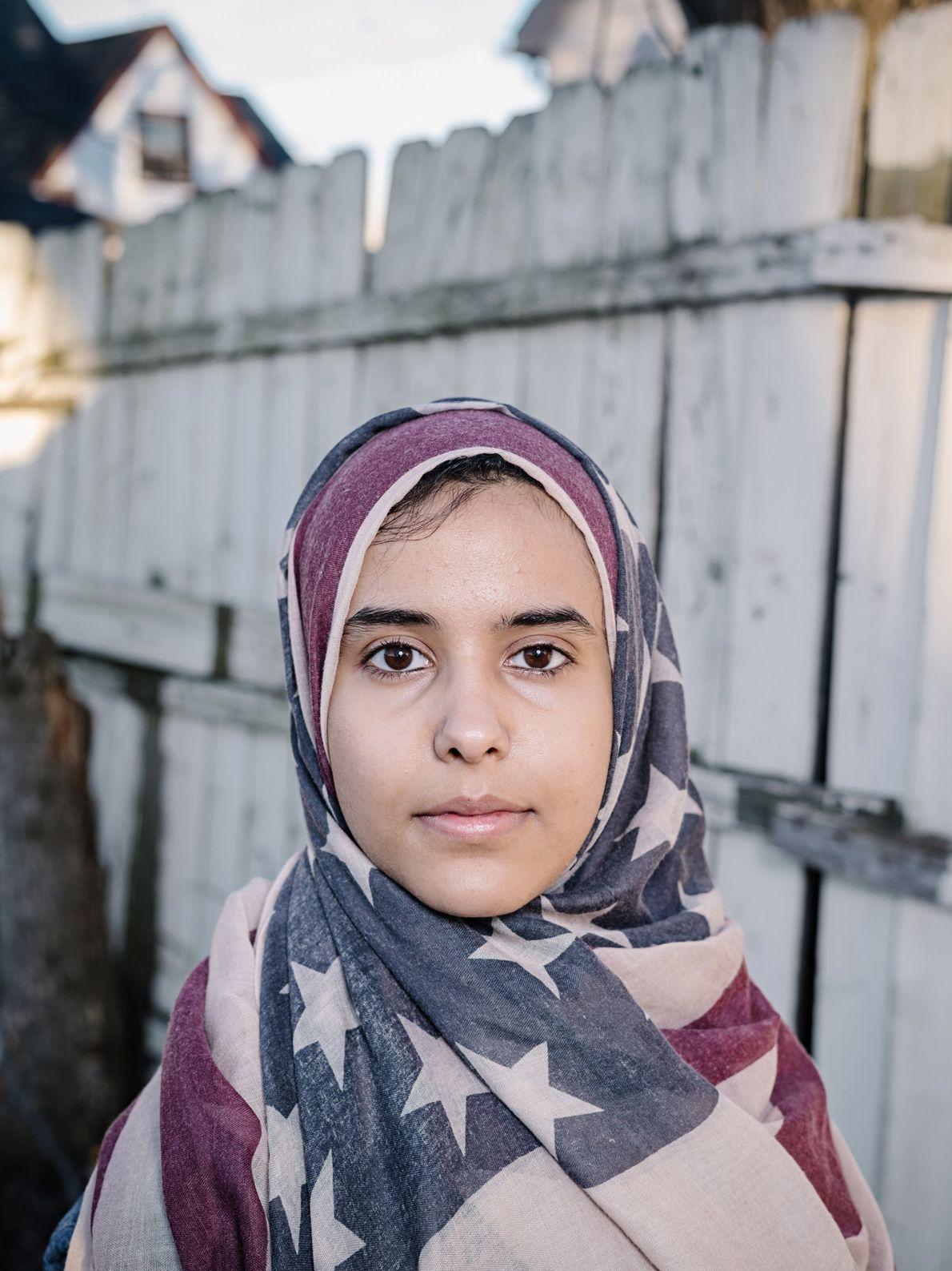 Iman Saleh, cuyos padres son de Yemen, estudia periodismo en la Universidad Estatal de Wayne en ...