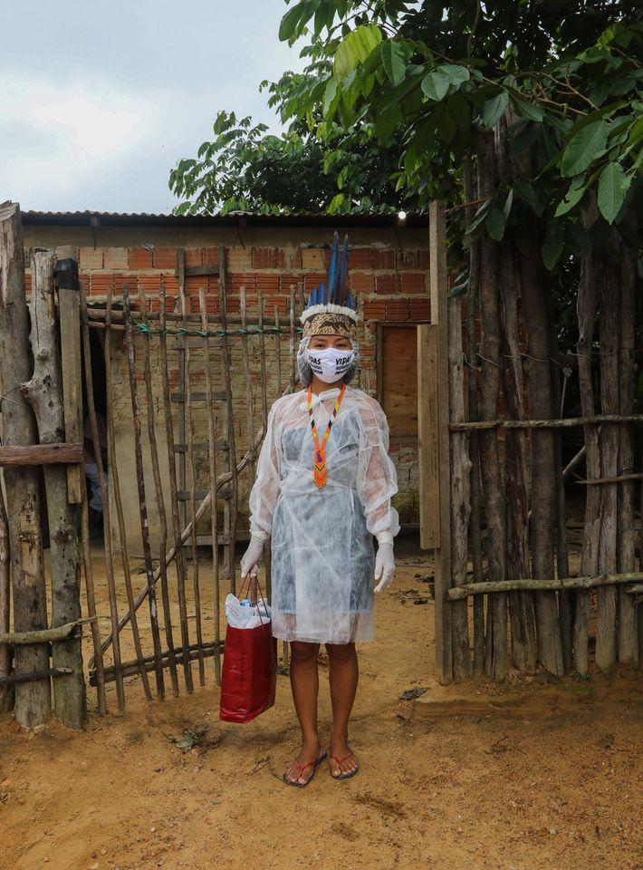 Vanda Ortega dejó su comunidad indígena en Amaturá, Amazonas, a la edad de 16 años para ...