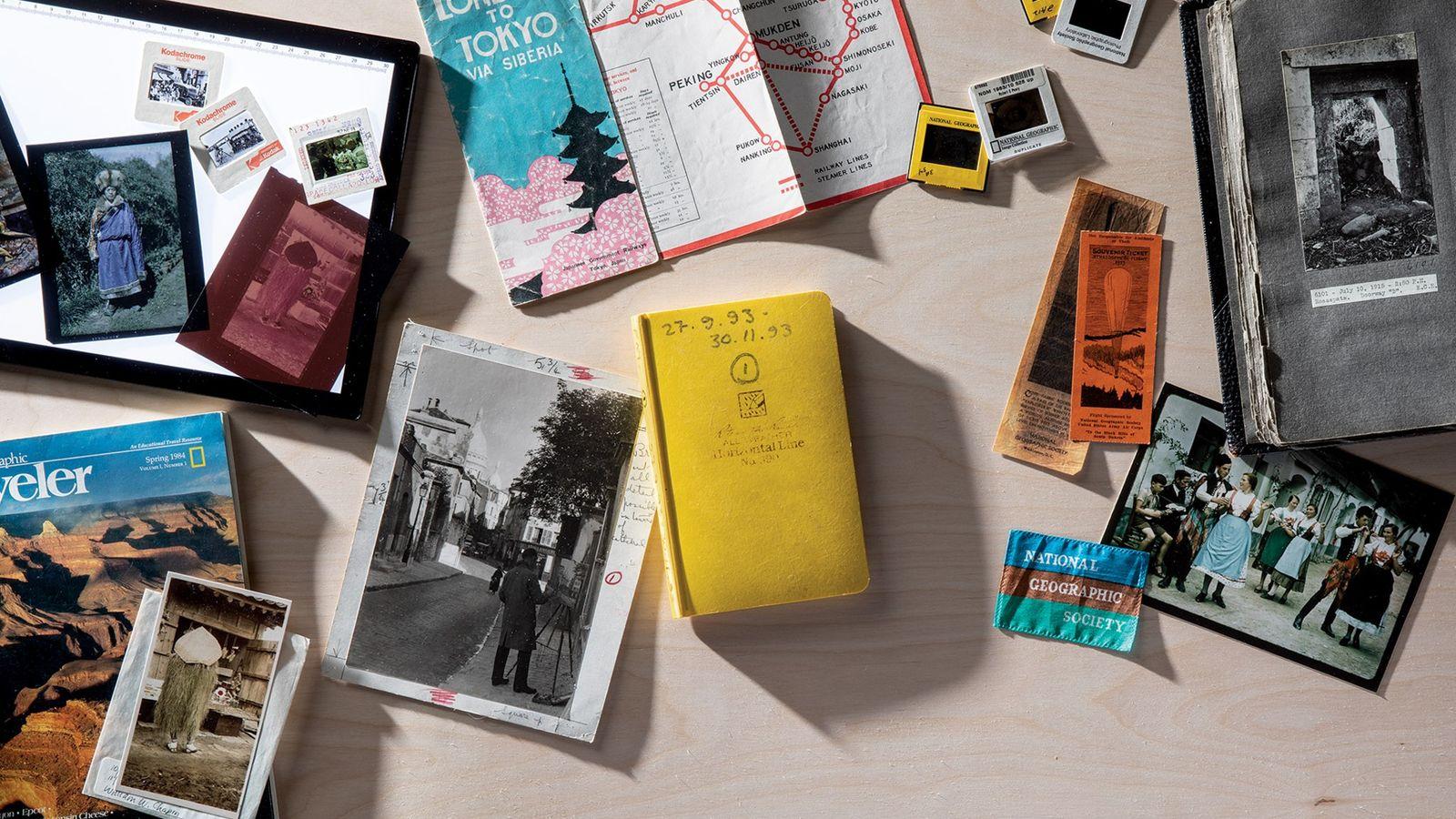 La colección de archivos de National Geographic contiene millones de objetos, entre ellos (de izquierda a ...