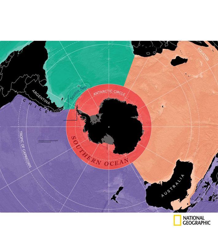 Límites del océano Austral  National Geographic ahora reconoce cinco océanos en el mundo. La mayoría de las aguas ...