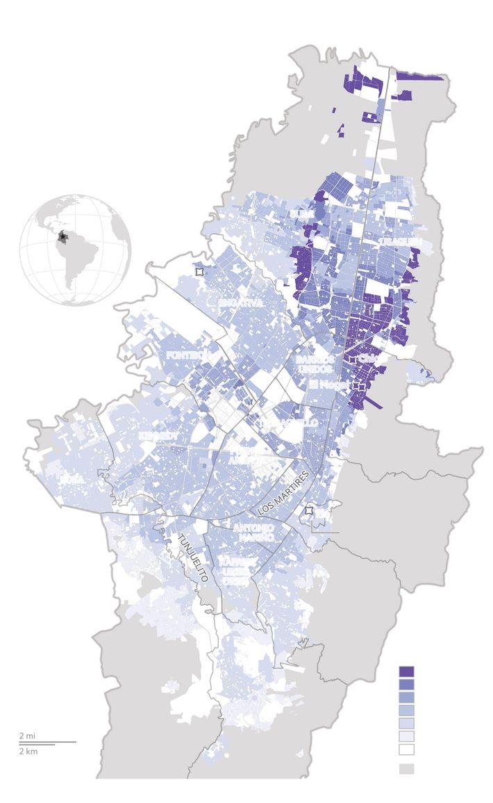 Las áreas de la ciudad están asignadas a un Estrato, del 1 al 6, perteneciendo el ...