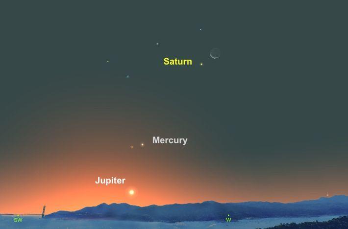 El 11 de noviembre, Saturno, de color cremoso, parecerá acercarse a la luna.