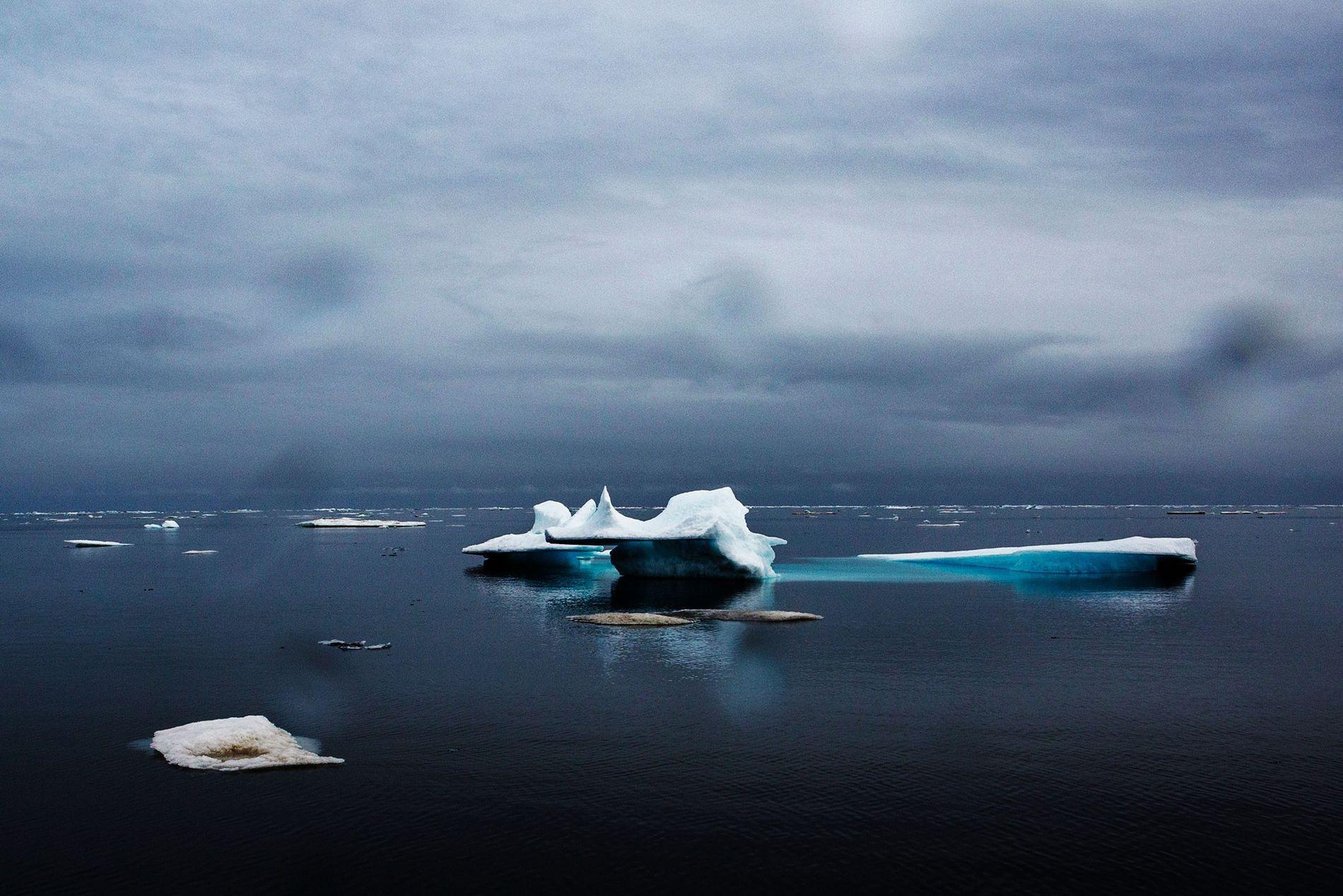 Junio de 2015: vista de Barrow, en el Océano Ártico, tras el invierno más cálido que ...