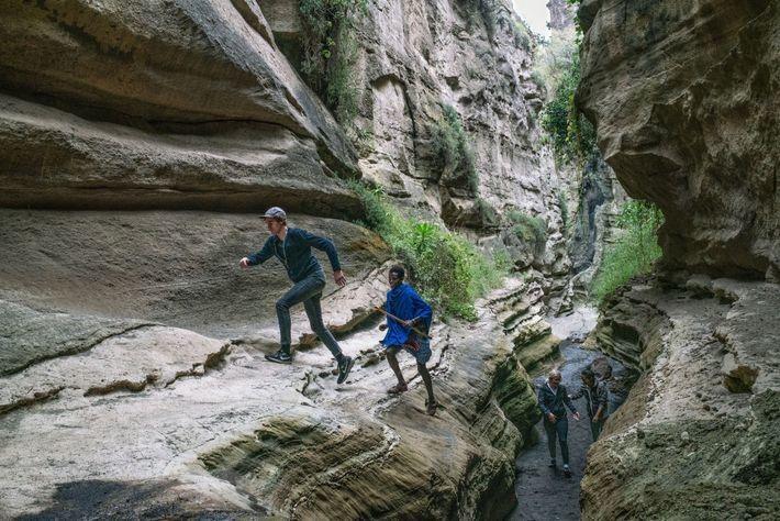 El área del parque está dirigida por la comunidad y los los indígenas masái ofrecen excursiones ...