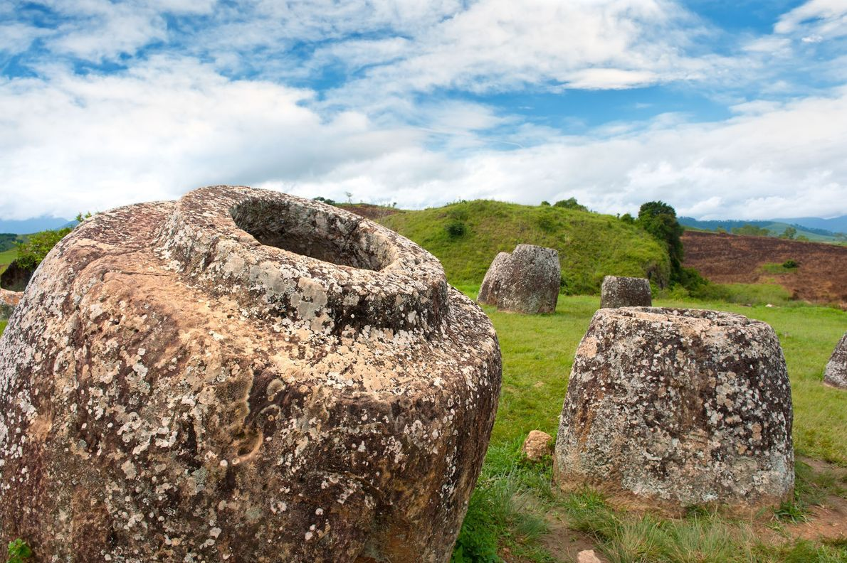 Megalithic Jar Sites in Xiengkhuang, Plain of Jars, Laos